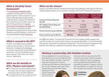 Early Career Framework National Roll Out