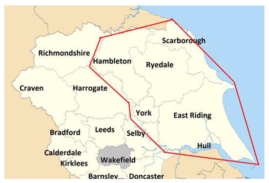 English Hub map